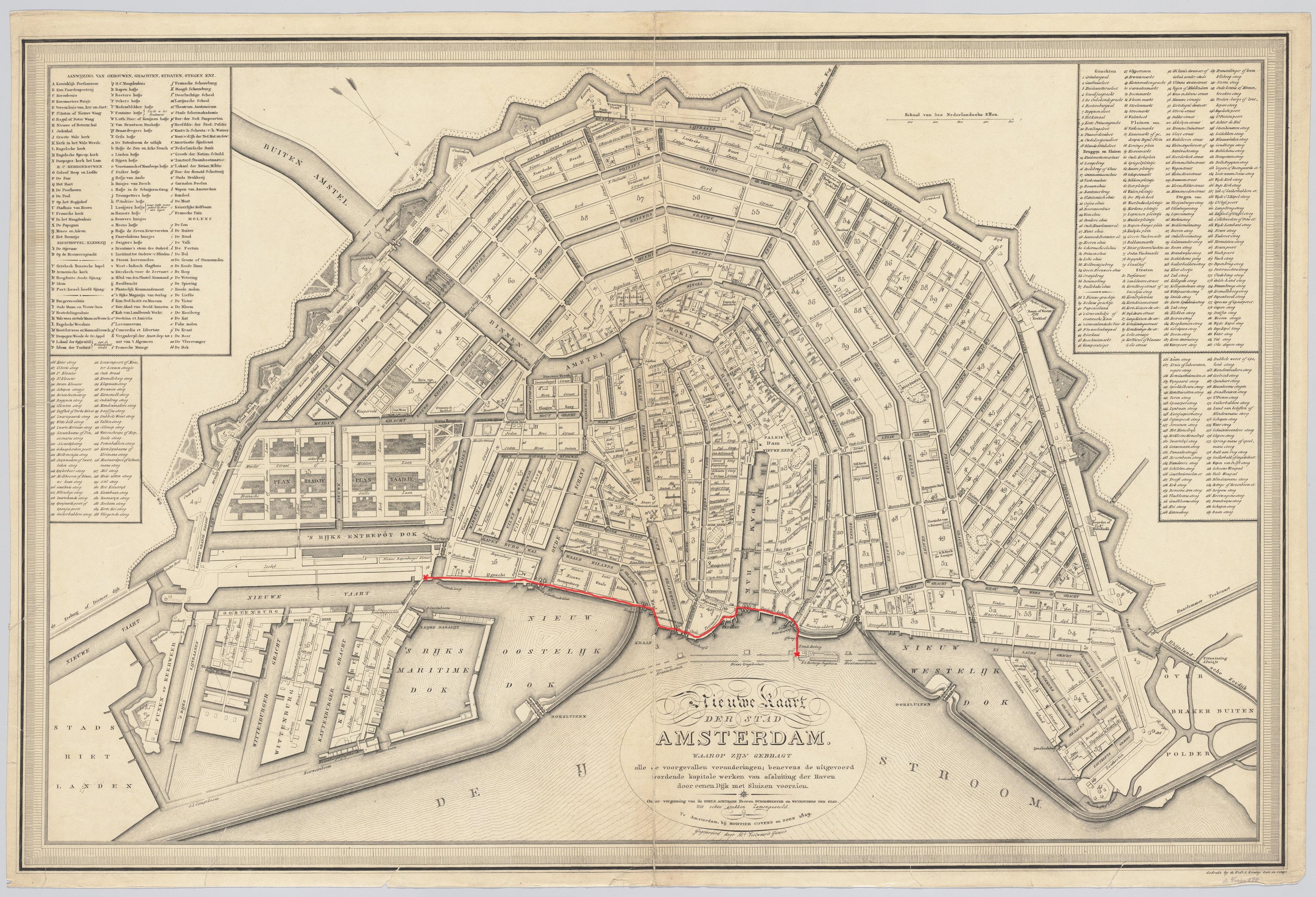 Wandeling 1 op Historische Kaart 1829
